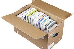 10 Stueck Profi Buecherkartons KARTONARA Box L Umzugskartons fuer 310x205 - 10 Stück Profi Bücherkartons KARTONARA Box L | Umzugskartons für Bücher 45kg