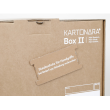 10 Stück Profi Bücherkartons KARTONARA Box L | Umzugskartons für Bücher 45kg