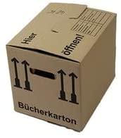 15er Pack - Davpack Bücherkarton - Umzugskarton, Tragkraft: 60kg, 2-wellig, 400mm x 350mm x 330mm