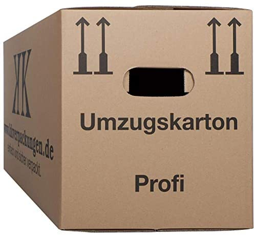 2-wellige Umzugskartons, 10 Stück | Extra Stabil & Stapelfähig mit Doppelwelle | Robuster Schmetterlingsboden | Hohe Tragkraft | Optimal für jeden Umzug
