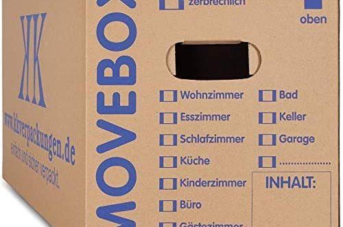 30 x UMZUGSKARTONS ZWEIWELLIG 634 x 290 x 326 500x330 - KK-Verpackungen Umzugskartons, 20 Stück, (Profi) STABIL + 2-WELLIG - Umzug Karton Kisten Verpackung Bücher Schachtel