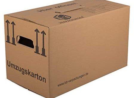 BB Verpackungen Umzugskarton 10 Stueck Profi 2 WELLIG Umzug Karton Kisten 449x330 - BB-Verpackungen Umzugskarton, 10 Stück, (Profi) 2-WELLIG - Umzug Karton Kisten Verpackung Bücher Schachtel
