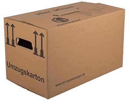 BB-Verpackungen Umzugskarton, 10 Stück, (Profi) 2-WELLIG - Umzug Karton Kisten Verpackung Bücher Schachtel
