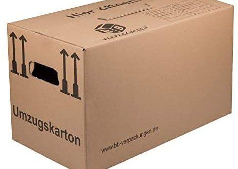 BB Verpackungen Umzugskarton 20 Stueck Profi 2 WELLIG doppelter Boden 465x330 - BB-Verpackungen Umzugskarton, 20 Stück, (Profi) 2-WELLIG + doppelter Boden