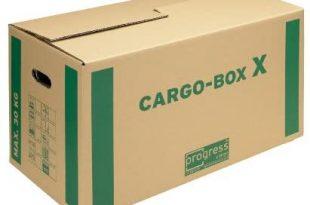 progressCARGO Transport Umzugskarton Eco PC CB01.02 1 wellig 637 x 340 x 310x205 - progressCARGO Transport-Umzugskarton, Eco, PC CB01.02, 1-wellig, 637 x 340 x 360 mm, 10-er Pack, braun