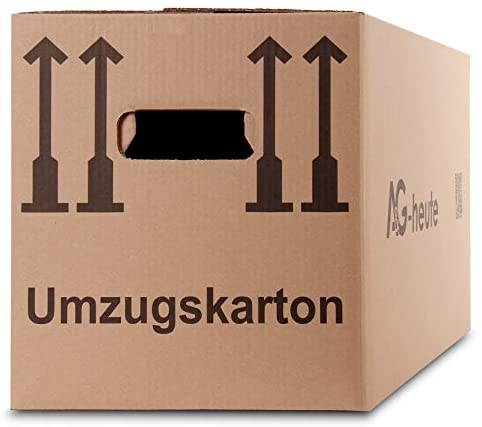 A&G-heute 30 Stück Umzugskartons 600 x 330 x 340mm Standard Faltkartons Umzugskisten 2-wellig doppelter Boden Profi braun