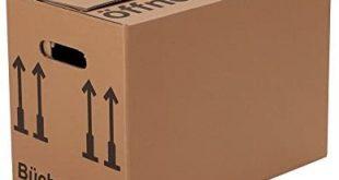 BB Verpackungen Buecherkartons Profi 2 wellig 30 Stueck Aktenkartons Archivbox 310x165 - BB-Verpackungen Bücherkartons Profi 2-wellig | 30 Stück | Aktenkartons Archivbox 500 x 300 x 350 mm | Karton mit Deckel & Schmetterlingsboden | 40KG Tragkraft | Bookbox für Umzug, Dokumente & Bücher