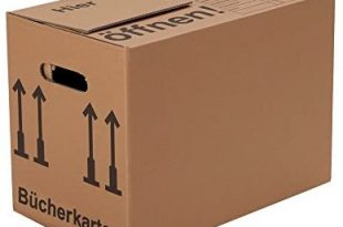 BB Verpackungen Buecherkartons Profi 2 wellig 30 Stueck Aktenkartons Archivbox 310x205 - BB-Verpackungen Bücherkartons Profi 2-wellig | 30 Stück | Aktenkartons Archivbox 500 x 300 x 350 mm | Karton mit Deckel & Schmetterlingsboden | 40KG Tragkraft | Bookbox für Umzug, Dokumente & Bücher