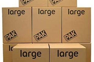 StorePAK Große Aufbewahrungsboxen – Archivkartons mit Griffen – 116 Liter – 100% recycelbar – H55 x B46 x T46 cm (10 Stück)